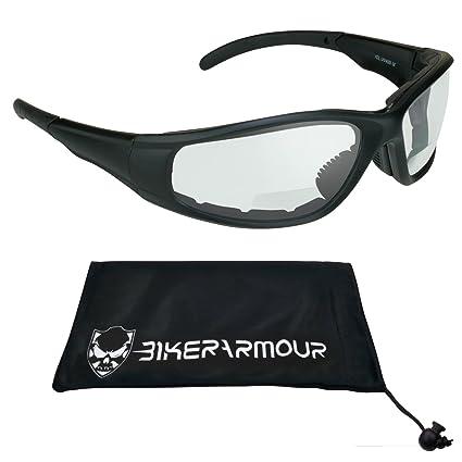 fd9798761a75 Amazon.com  Z87.1 Motorcycle Riding Bifocal Safety Glasses +1.50 Foam  Padded  Automotive