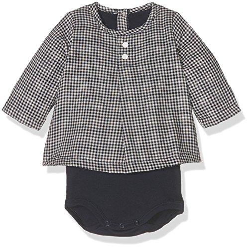 - Petit Bateau Baby Girls' Baby Long Sleeve Check Print Bodysuit Top, 6M (26 1/2 inches)