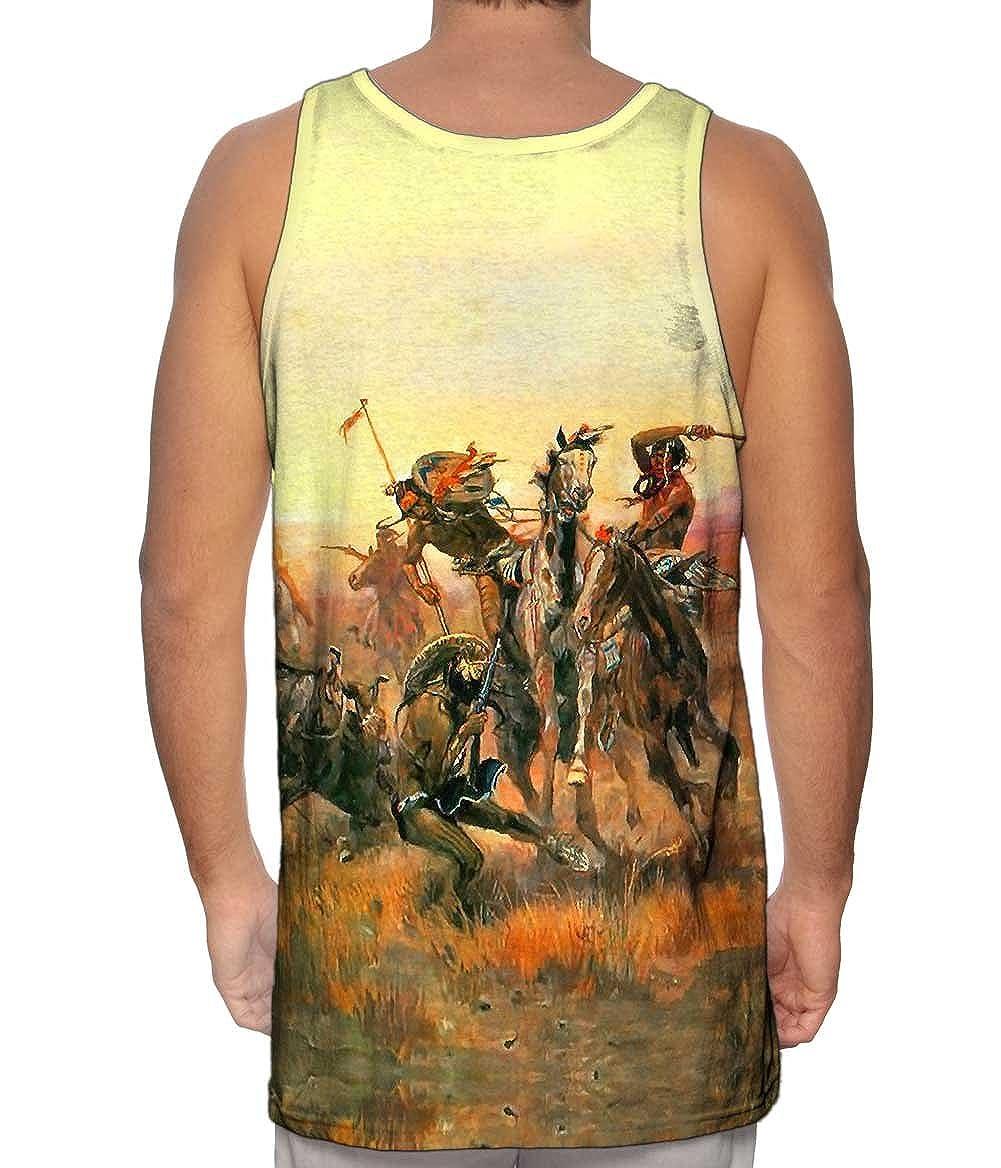 cm Russell When Blackfoot an.-Tshirt Mens Tank Top 2358 Yizzam