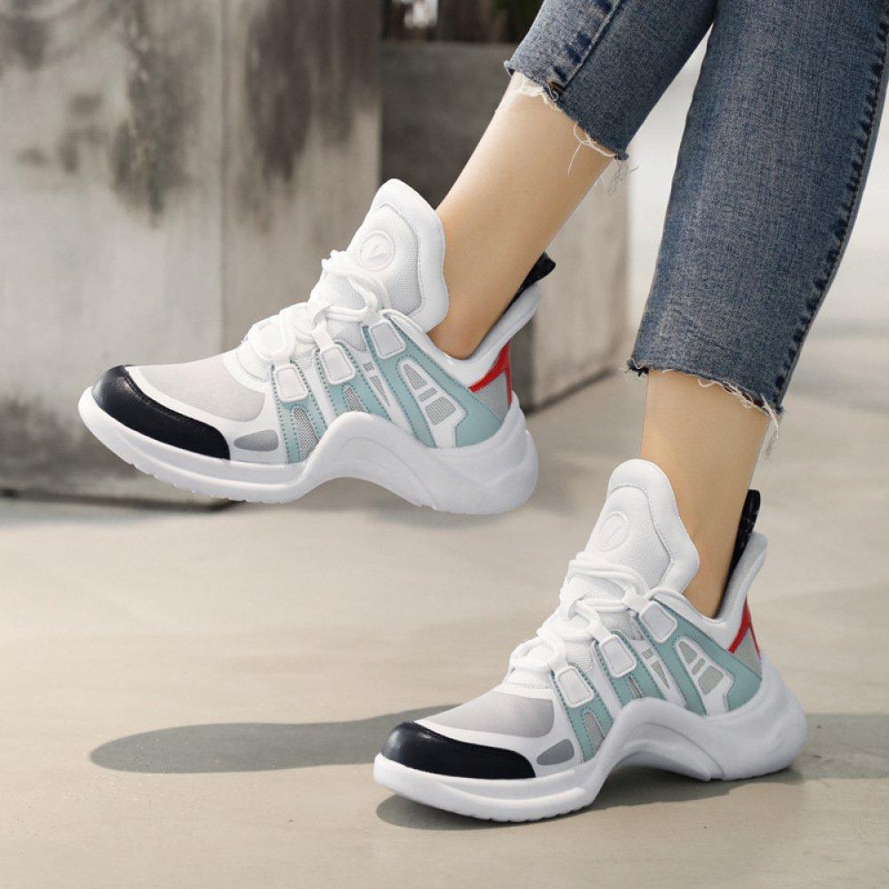 SBL Schuhe der der Frauen der Schuhe Herbstfrauen Super Beschuht Damensportschuhe Breathable weiße Schuhe der Art und Weise,Blau,38 - 93c745