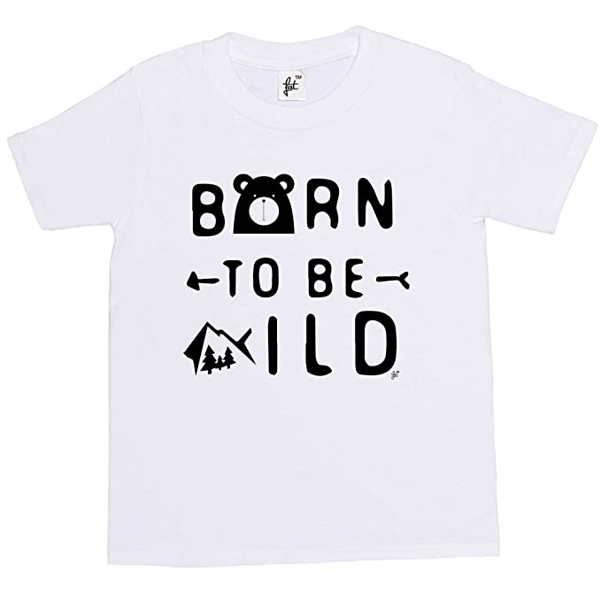 1ebe9edef6d9 Fancy A Snuggle Born To Be Wild Kids Boys   Girls T-Shirt  Amazon.co.uk   Clothing