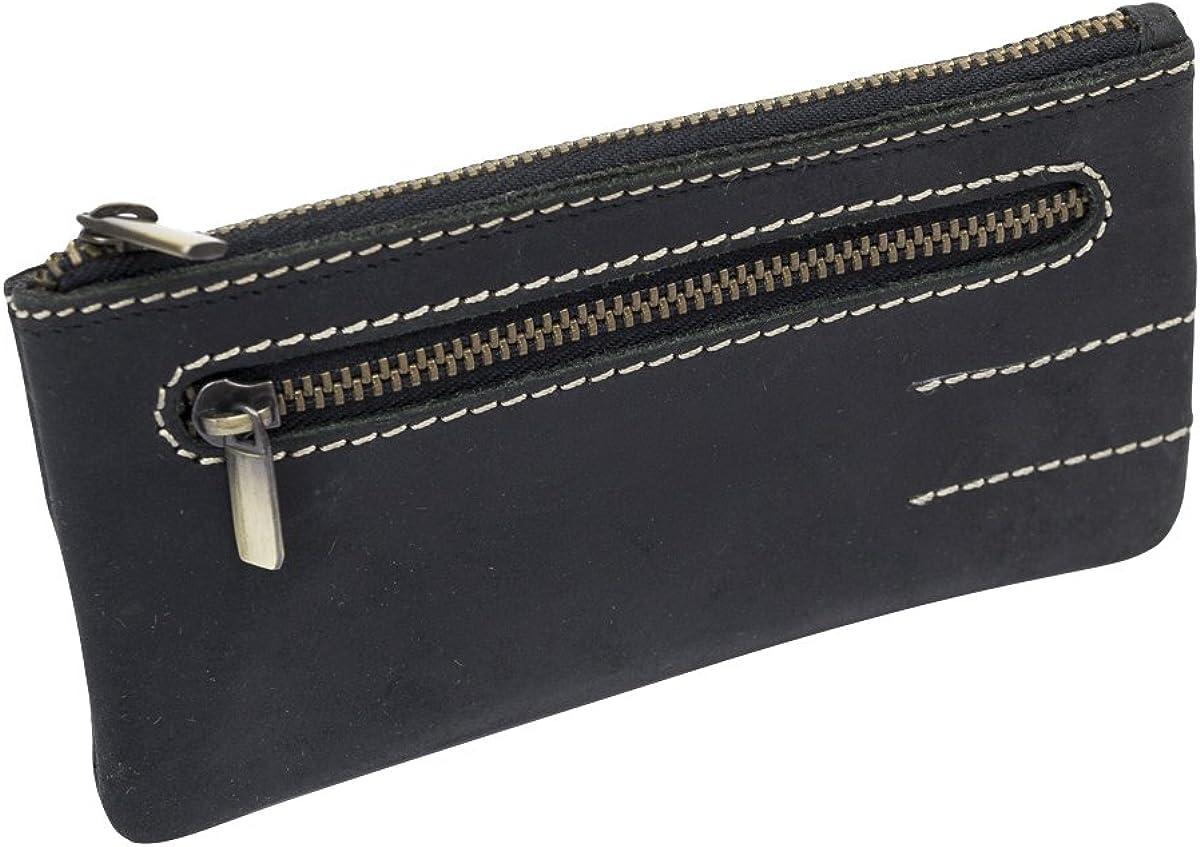 marron Vintage-Collection LEAS Pochette pour cl/és cuir v/éritable