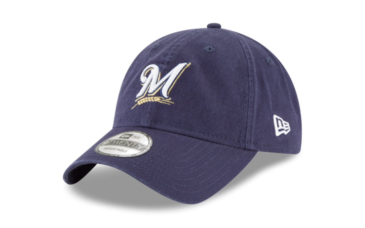 detailed look 83af5 0921b Amazon.com  New Era 920 MLB CORE Classic Replica Milwaukee Brewers 9TWENTY  Game DAD Cap  Clothing