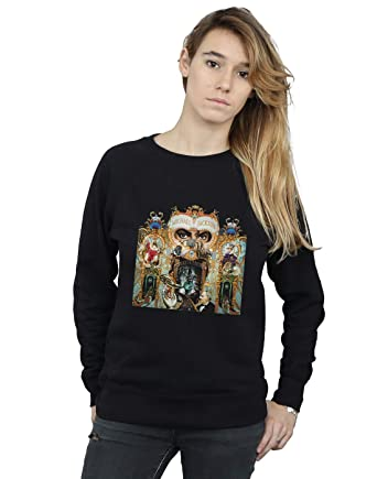 release date: 23ba5 ee254 Absolute Cult Michael Jackson Women s Dangerous Album Cover Sweatshirt  Black Small