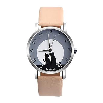 Amazon.com: PPHITAK - Reloj de cuarzo para mujer, diseño de ...