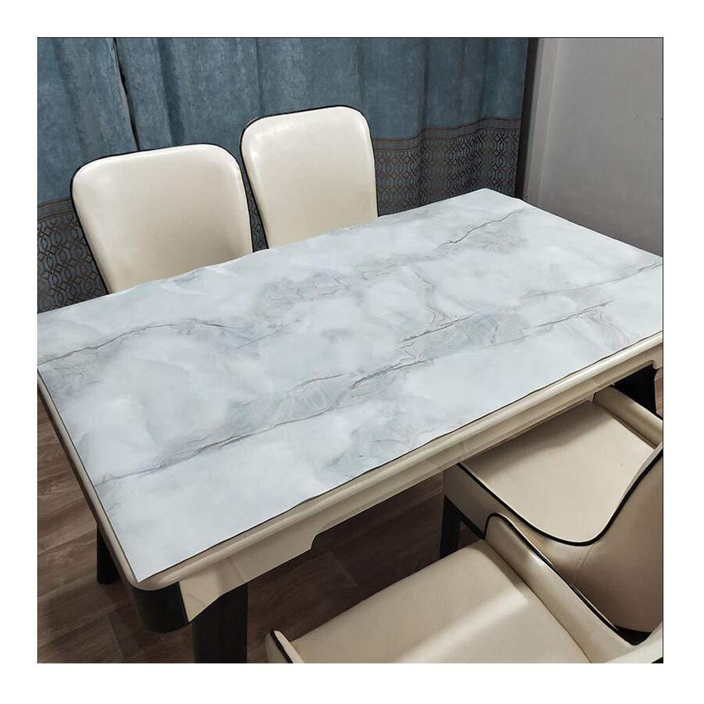 A 100100cm LLH Nappe de PVC, nappe de lavage libre de nappe de table basse en verre doux opaque lavable jetable anti-huile de ménage-preuve lavable ZHUOB (Couleur   A, taille   85  135CM)