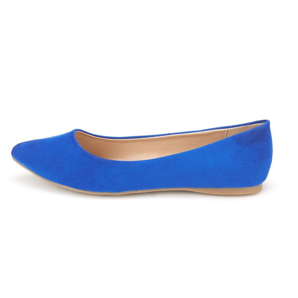 64e9db070 DREAM PAIRS SOLE CLASSIC FANCY Women's Casual Pointed Toe Ballet Comfort  Soft Slip On Flats Shoes larger image