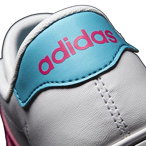adidas Daily Team K, Zapatillas de Deporte Unisex Niños Blanco (Ftwbla / Rosimp / Azuene)