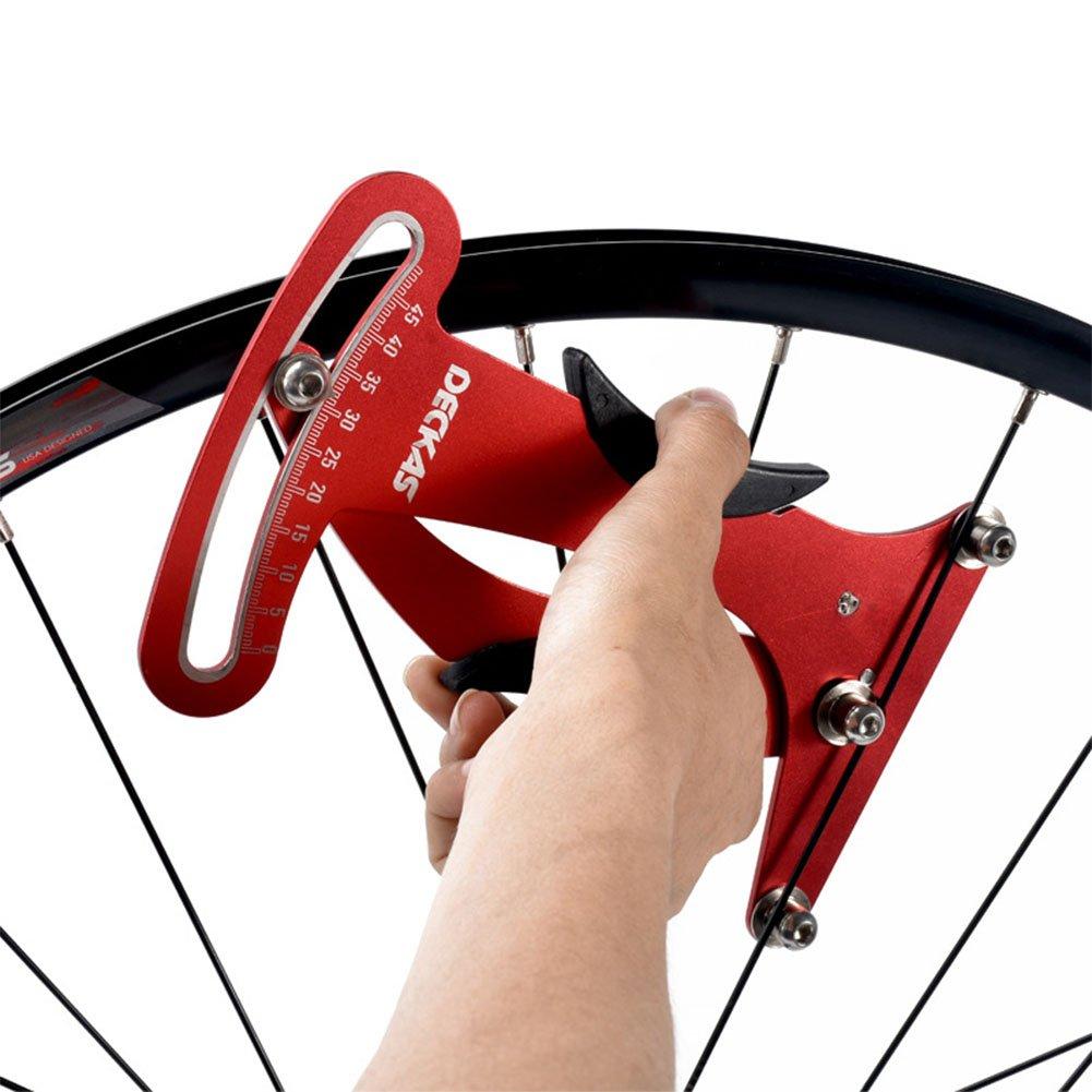 Romsion Práctico de Alta Resistencia para radios de Bicicleta, medidor de tensión de Alambre de Acero, Juego de Rueda de tensión, Corrector de Anillo de ...