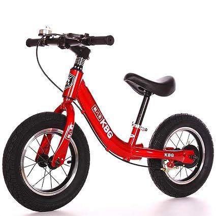 CQ Bicicleta De Equilibrio Niño Dos Ruedas Portátil Sin Pedales para Bebe Caminante 12 Pulgadas