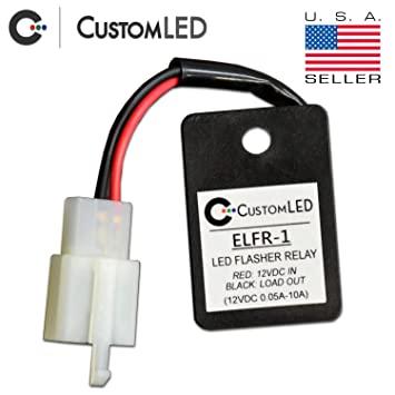 Custom LED Electronic LED Flasher Relay for LED Blinkers on Motorcycles on