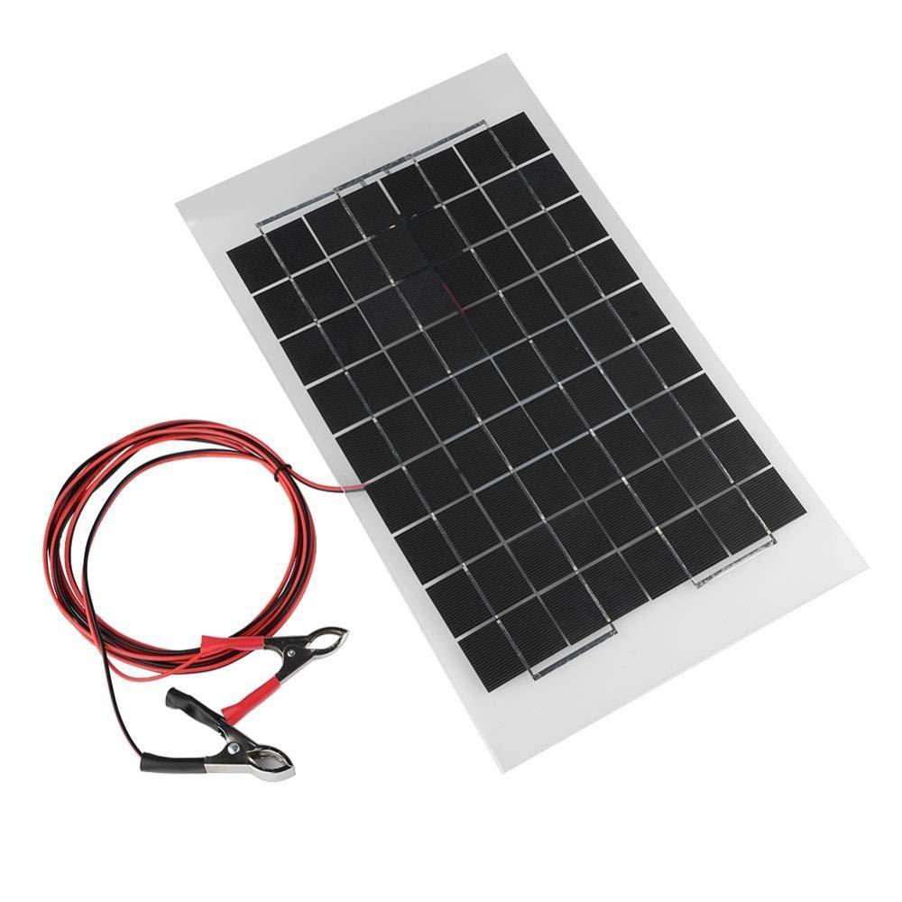 12V 10W Portátil Panel Solar Policristalino, Cargador Solar ...