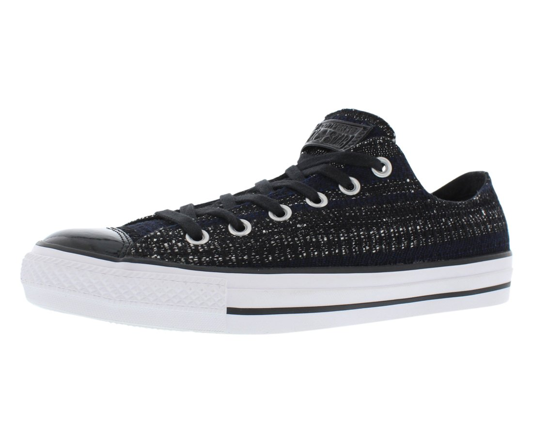 Converse Chuck Taylor Oxford 149652C. Black/Navy, Black Patent Toe (8 Mens/10 Womens)