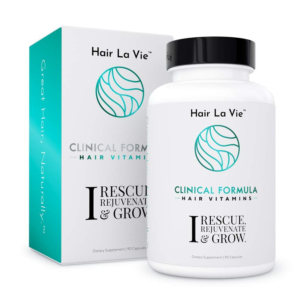 Hair La Vie Clinical Formula Hair Vitamins with Biotin and Saw Palmetto for Women's Hair Loss and Thinning - Thicker Healthier Hair Growth