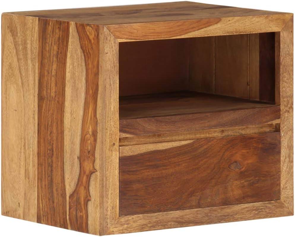 Festnight Table de Chevet Table dAppoint Table de Nuit Bois Massif de Sesham 40 x 30 x 35 cm