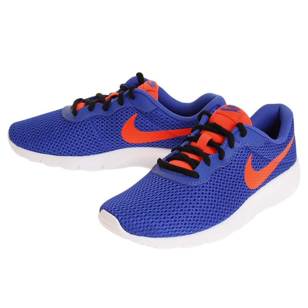 Nike Boy's Tanjun Running Shoe, Racer Blue/Total Crimson-Black-White, 6Y by Nike