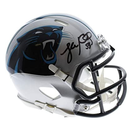 e98606e0d7744 Image Unavailable. Image not available for. Color  Luke Kuechly Carolina  Panthers Autographed Signed Riddell Speed Mini Helmet ...