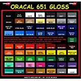 "Oracal 651 Vinyl Rolls 5ft x 12"" Choose from 64 Colors (15 Rolls)"