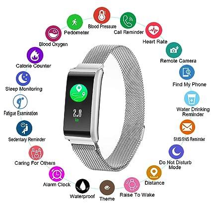 Amazon.com: Reloj inteligente con monitor de frecuencia ...