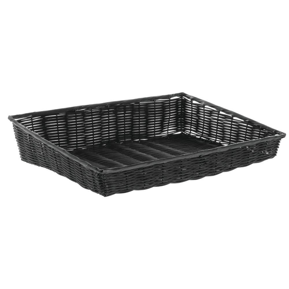 Natural Color Wicker Basket Rectangular Tapered - 17''L x 20''W x 5'' to 8''H