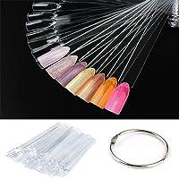 CINEEN 50 st falska naglar konst designer tips pinnar polera gel salong display övning genomskinliga verktyg med delad…