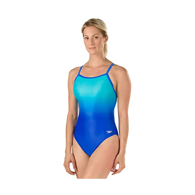 Amazon.com: Speedo Women s PowerFlex Eco Ombre Flyback ...