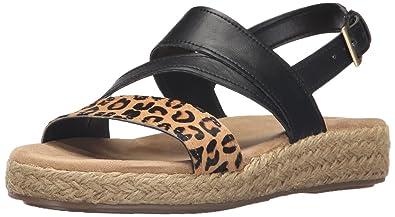 352ec995980 Aerosoles Women s Globetrotter Espadrille Wedge Sandal Leopard Tan 7.5 ...