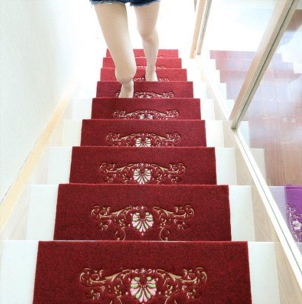 QI8 Massivholz Hause treppen pad Schritt Matte pad wendeltreppe pad Rutschfeste Gummi Selbstklebende pad B07N3PH876 | Elegant und feierlich
