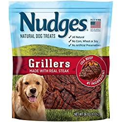Nudges Steak Grillers Dog Treats, 36 oz
