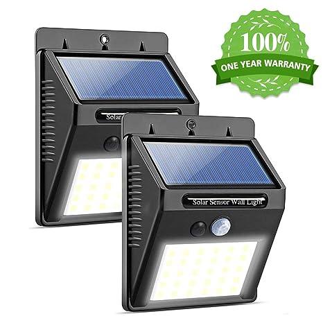 Luz de Solar LED, RegeMoudal Lámparas Solares Exterior 30 LEDs Sensor de Movimiento de 120