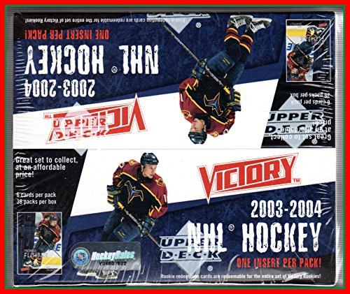 Victory Hockey Cards (2003-04 Upper Deck Victory NHL Hockey 36 Pack 6 Cards per pack Wax Box Factory)