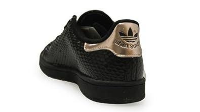 buy popular d8e84 354a7 Amazon.com | adidas Stan Smith Womens Size 8 Black | Fashion ...