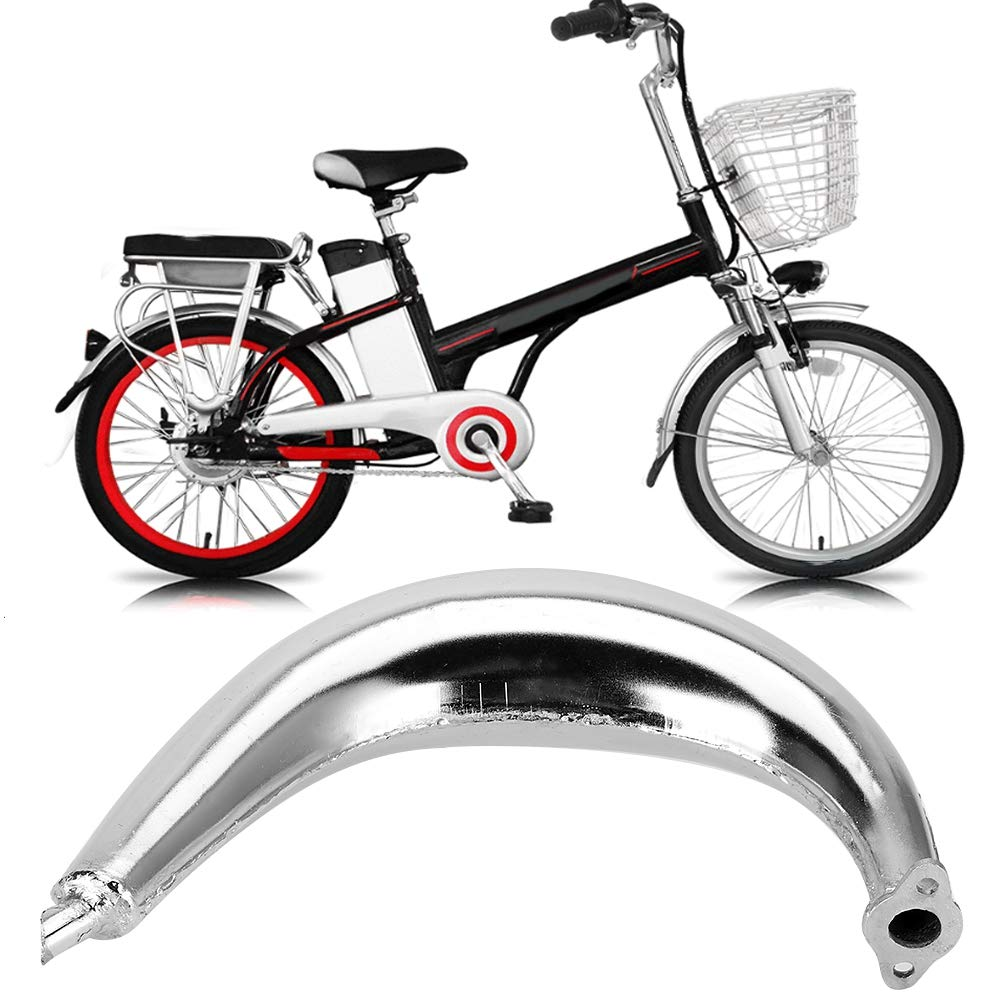 motor motorizado Accesorios para bicicleta Tubo de escape de color cromado con silenciador para 80cc 66cc 49cc EBTOOLS Tubo de escape de metal