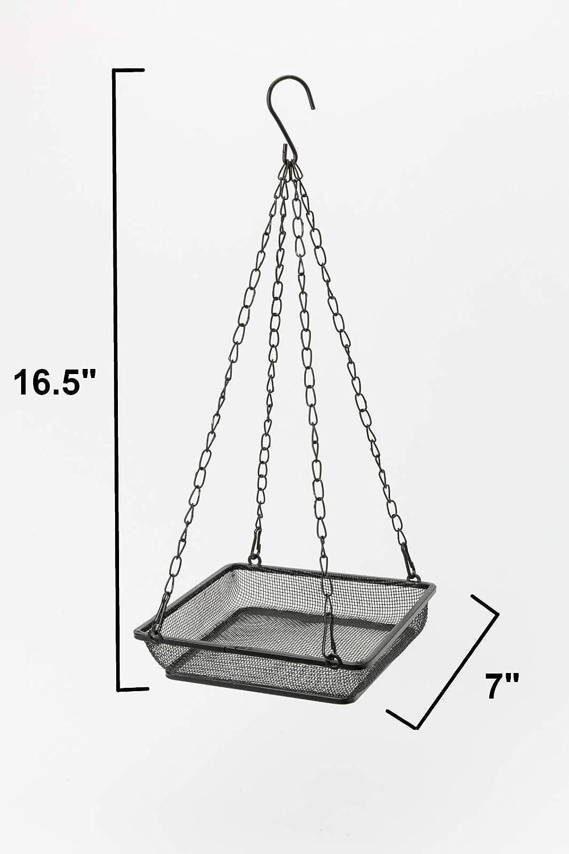 WOSIBO Hanging Bird Feeder Tray, Platform Metal Mesh Seed Tray for Bird Feeders, Outdoor Garden Decoration for Wild Backyard Attracting Birds : Garden & Outdoor
