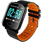 Om Infuse Activity Tracker/Bracelet Watch for Men/Fitness Watch for Women/Fitness Watch for Men/Health Watch/Health Band/Health Band & Activity Tracker/Wrist Smart Band -Orange