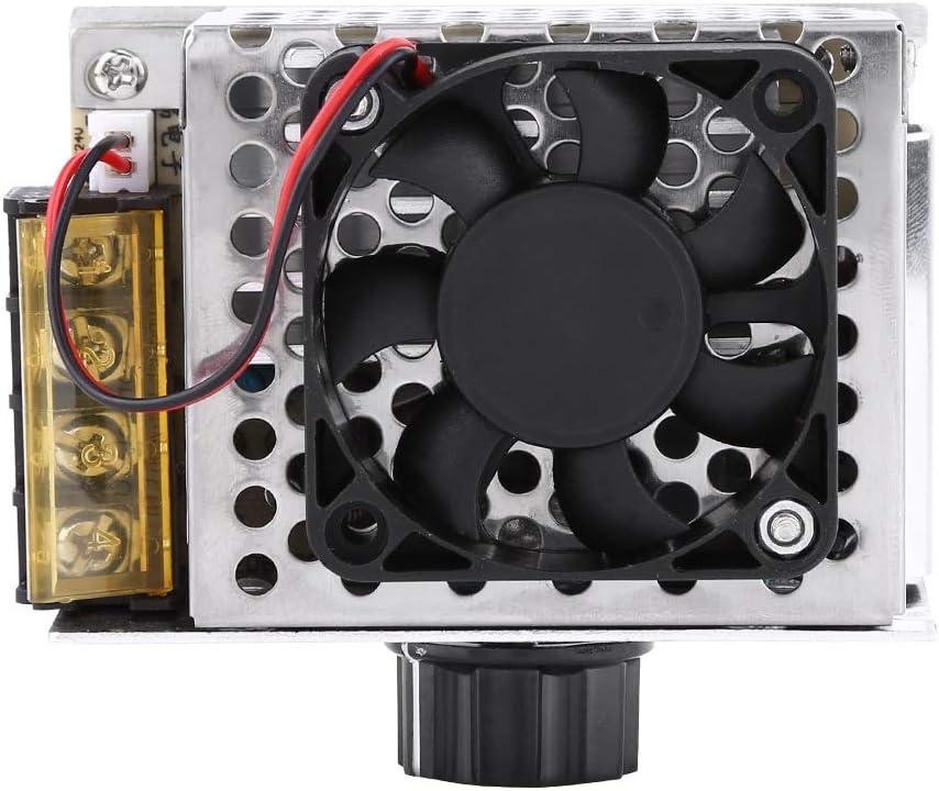 Big Power Voltage Regulator-4000W SCR Electric Voltage Regulator Dimmer Temperature Motor Speed Controller With Fan