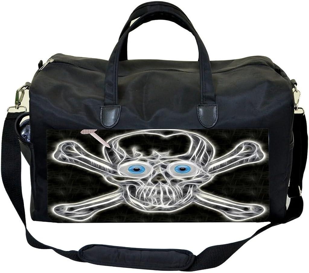Max Wilder Fractal Skull Sports Bag