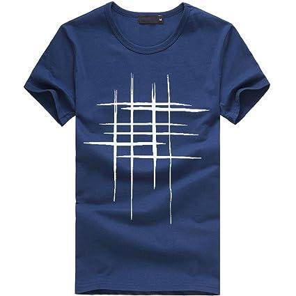 DRESS_start Camisetas Para Hombres Camiseta Manga Corta Para HombreCasual Impresión Camiseta Para Hombre Tee Cuello… lMKqhDkKnk