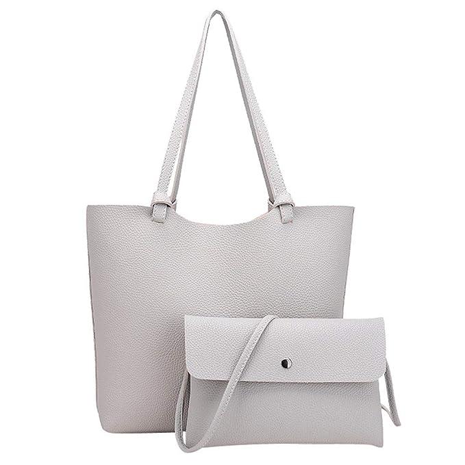 815394b71d4753 MOIKA Borse a Mano da Donna/Borse Shopping-Handbag + Crossbody Set 2 Pezzi