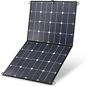 Renogy 100W 12V Portable Eclipse Solar Panel Lightweight Foldable Suitcase with 10A LCD Charge Controller for Jackery/SUAOKI/Rockpals/Goal Zero/Webetop Power Generator