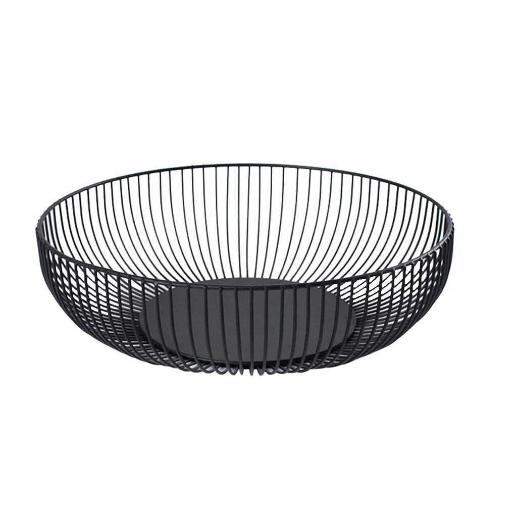 AIWO-PQ Storage Basket Metal Large Capacity Multi-Function Simple Storage Basket, Black Fruit Basket