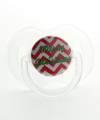 Cristal sueño Navidad chupete feliz Navidad: Amazon.es: Bebé