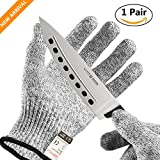 Cut Resistant Gloves, UROPHYLLA Safety Gloves Level 5 Protection Anti-Cutting gloves, Food Grade, Hand Protection Gloves for Kitchen Cutting, Slicing, Yard-work, Wood Carving, and more (Small)