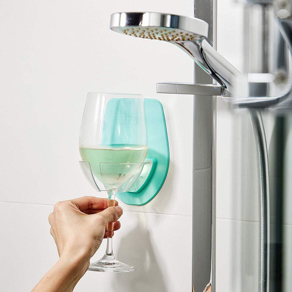 Wine Glass Holder,WensLTD Portable Watt Plastic Wine Glass Holder for The Bath Shower Red Wine Glass Holder (Green)