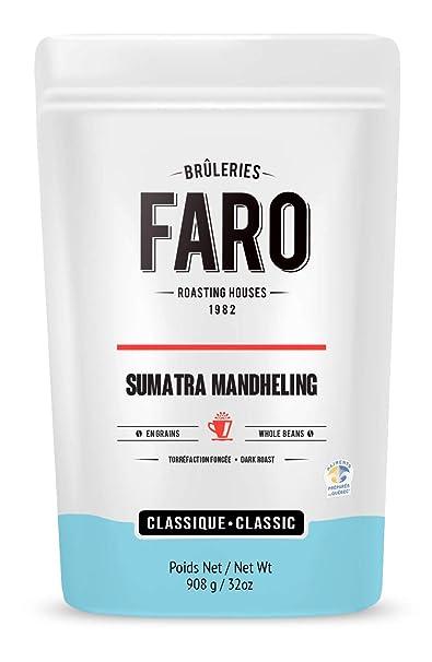 Faro Roasting House Sumatra Mandheling Whole Coffee Beans 2lb, 100% Arabica  Beans -