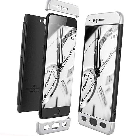 XCYYOO Funda para OnePlus 5 Custodia de 360°Caja Protectora PC Shell,Carcasa OnePlus 5 Silicona Snap On Diseño Antigolpes Choque Absorción Bumper ...