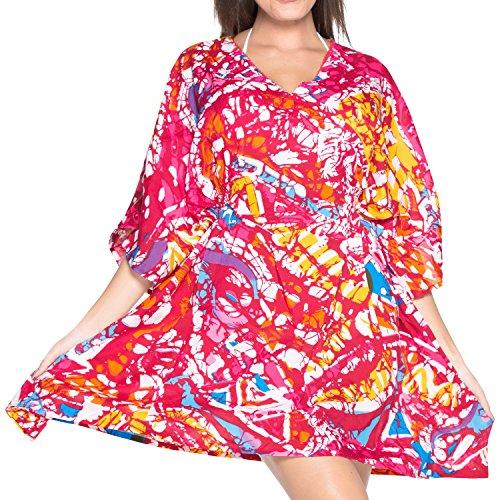 La Leela Super Weich Likre Kimono Frauen Dehnbar alte Kunst Gemalt 4 ...