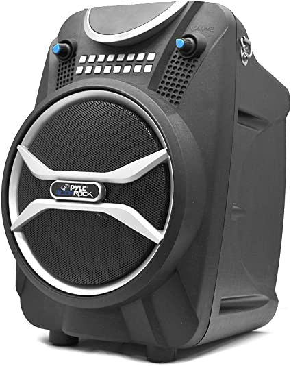 Wireless Portable PA Speaker System - 9 W Battery Powered Rechargeable  Sound Speaker and Microphone Set with Bluetooth MP9 USB Micro SD FM Radio  AUX