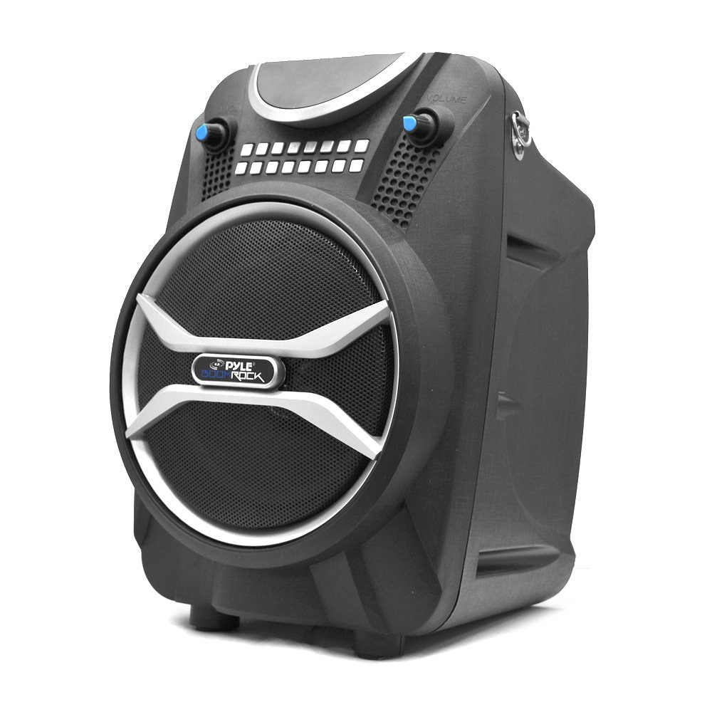 PYLE-HOME Boom Rock PWMAB210BK Bluetooth Karaoke Speaker Recording System, Rechargeable Battery, Wireless Mic, USB/SD Readers Sound Around