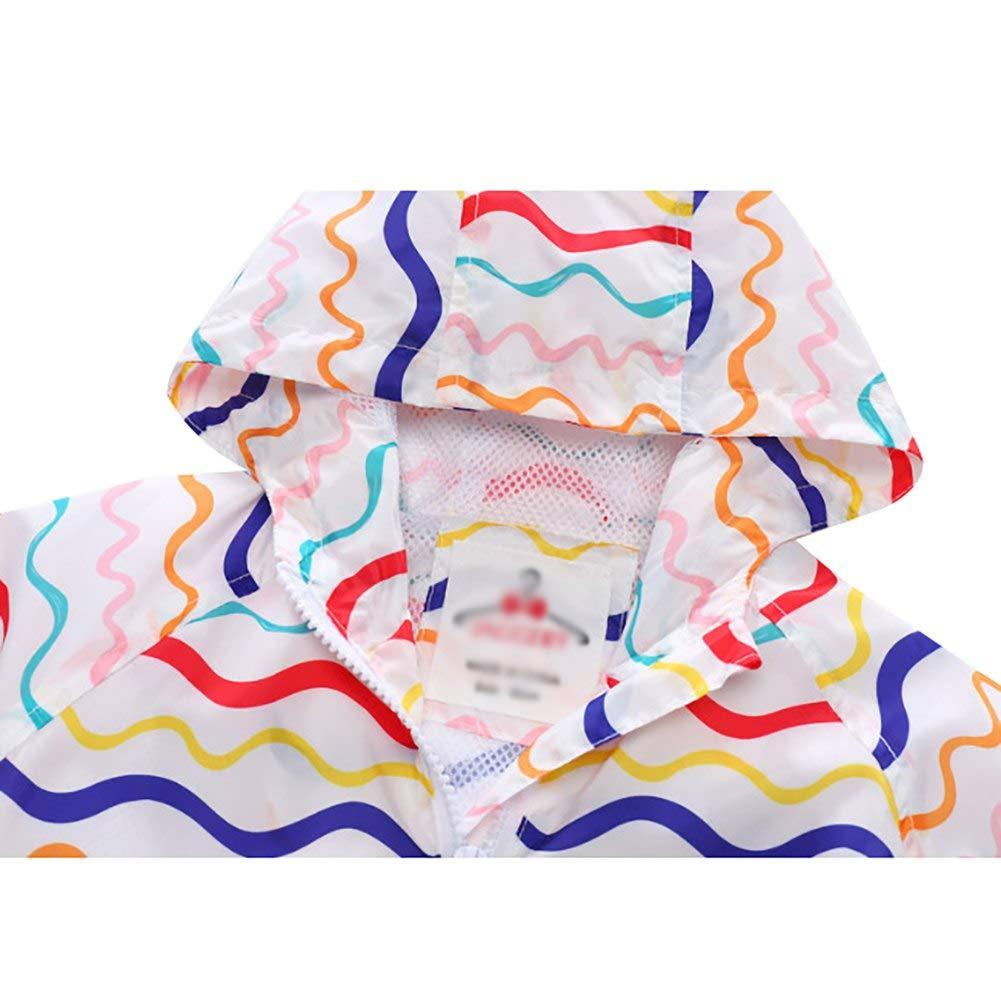 Baby Toddler Girls Windbreaker Jacket Long Sleeve Zipper Hooded Wave Waterptoof Outdoor Coat Outwear Princess Lovely Outfit
